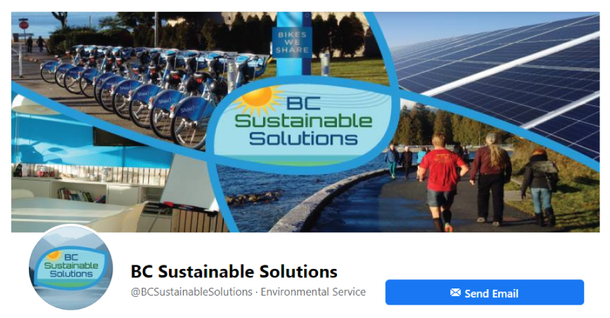 BC Sustainable Solutions Facebook Page employing Social Media