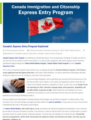 Canada's Express Entry Program Explained
