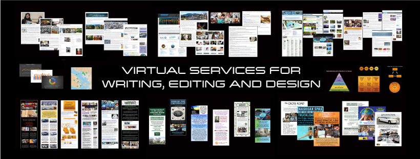 Photo Montages of Writing, Design and Marketing Services in Canada